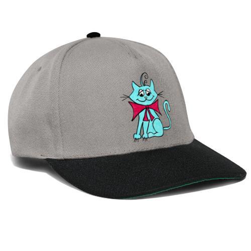 Katze blau - Snapback Cap