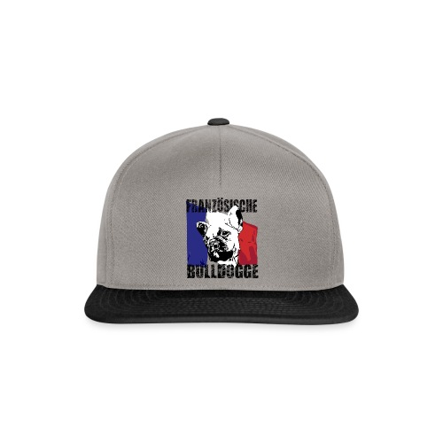 Französische Bulldogge mit Flagge - Snapback Cap