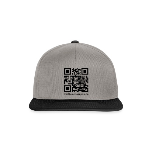 qr-code mit url fb - Snapback Cap