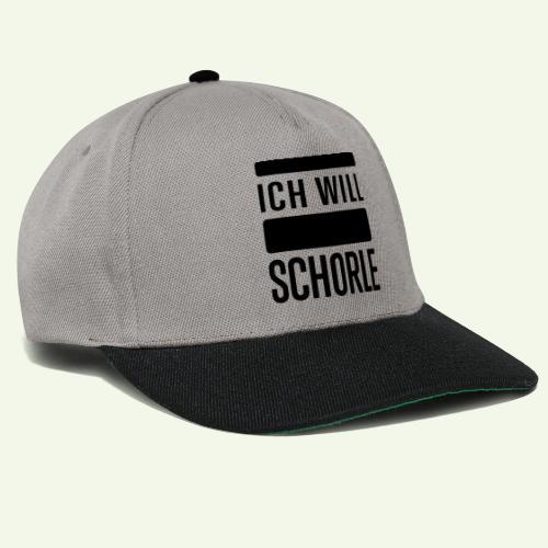 Ich will Schorle schwarz - Snapback Cap