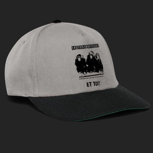 Three wise monkeys - Casquette snapback