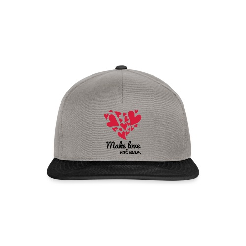 Make Love Not War T-Shirt - Snapback Cap