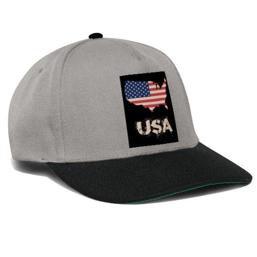 USA FLAG 4th of July With Flag - Snapbackkeps