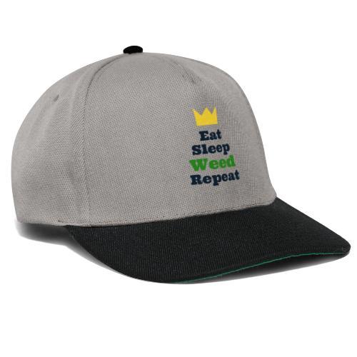 Eat Sleep Weed Repeat Tees by SeSQoOo - Snapback Cap
