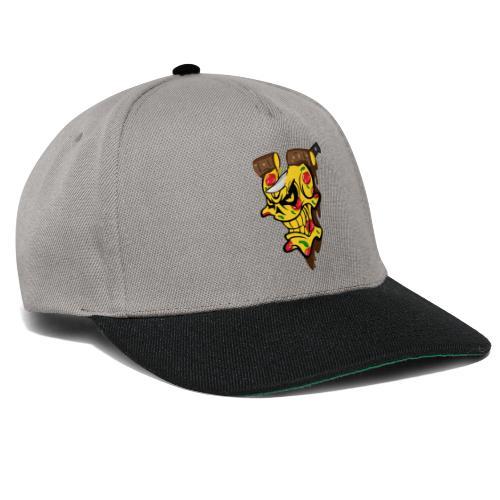Pizza Schädel mit Messer - Snapback Cap