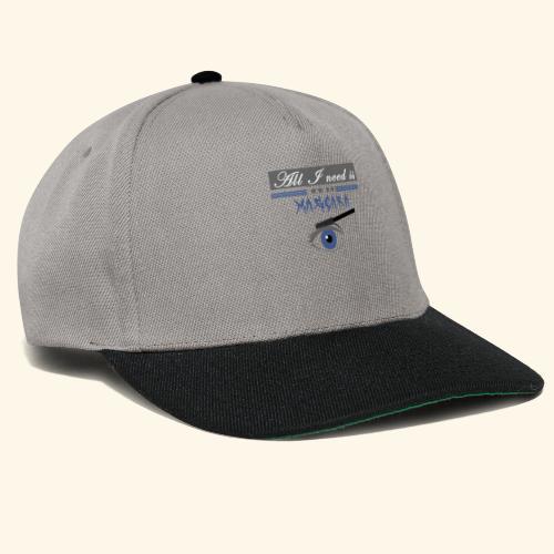 all i need is maccara - Snapback Cap