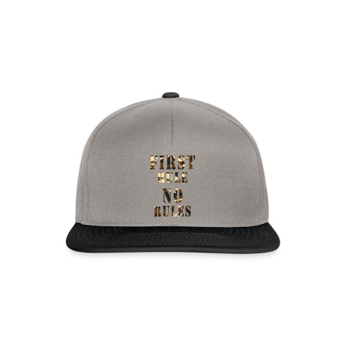 first rule no rules - Casquette snapback