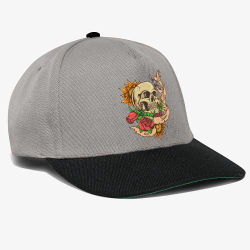 Schädel-Tattoo - Snapback Cap