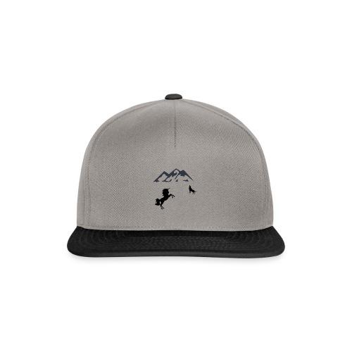 Einhorn mit Wolf in den Bergen - Snapback Cap