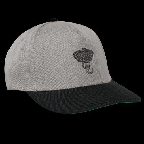 Henna Elephant black - Snapback Cap