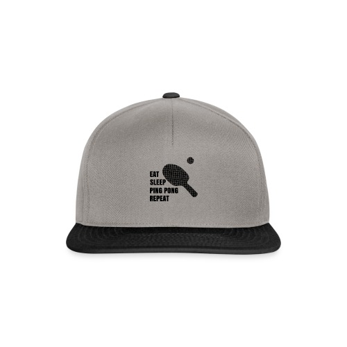 Ping Pong Addict Eat Sleep Ping Pong Repeat Table - Snapback Cap