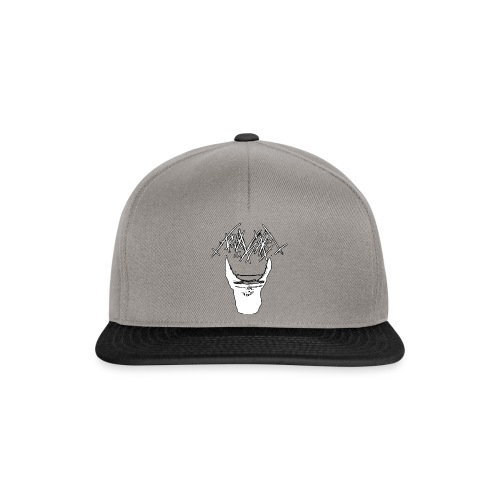 aquascaping ist krieg aber in weiss - Snapback Cap