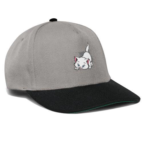 Katze Splash Pfützen Sprung - Snapback Cap