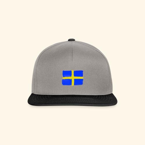 Swedish flag in Watercolours - Snapbackkeps