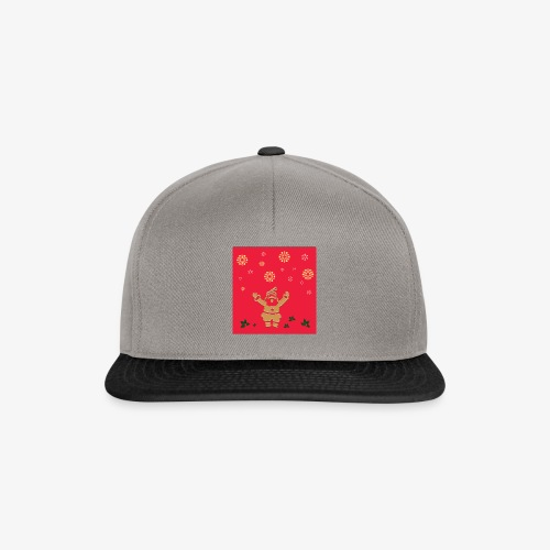 Santa Claus on a red background and snowflake - Snapback Cap
