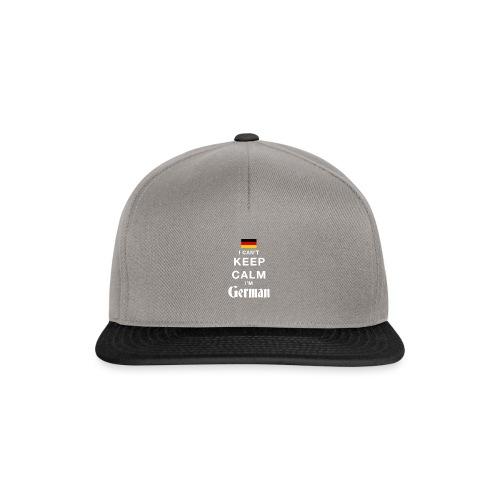 I CAN T KEEP CALM german - Snapback Cap