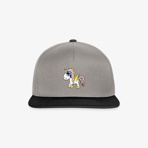 Buntes lässiges Einhorn - Snapback Cap