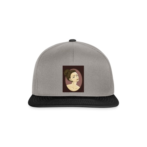 Girl illustration by Sofie Niebe - Snapback Cap