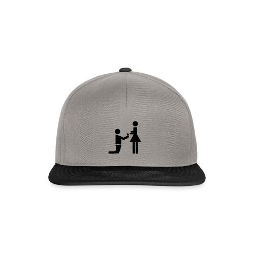 heiratsantrag hochzeit d7 - Snapback Cap