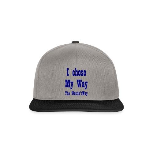 I chose My Way Navy - Snapback Cap