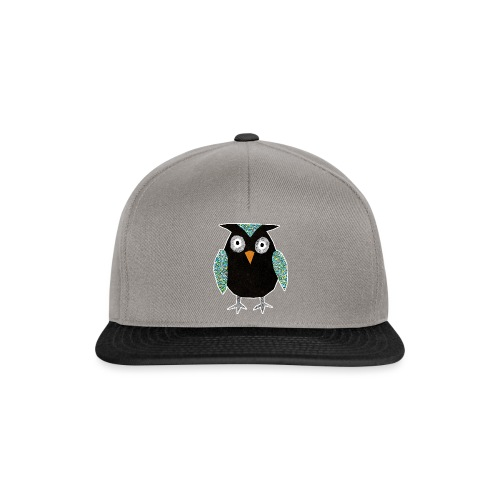 Collage mosaic owl - Snapback Cap