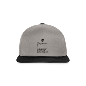GUM BUCKET LIST (Black) - Snapback Cap