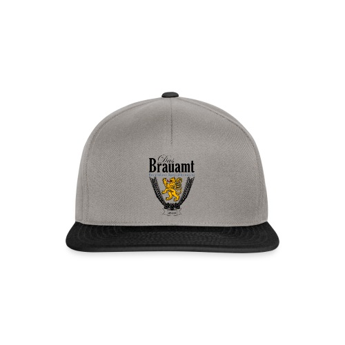 Brauamt Logo schwarz - Snapback Cap
