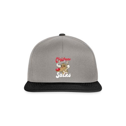 smoking Rentier christmas sucks - Snapback Cap