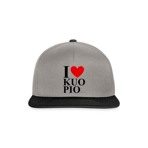 I LOVE KUOPIO ORIGINAL (musta) - Snapback Cap