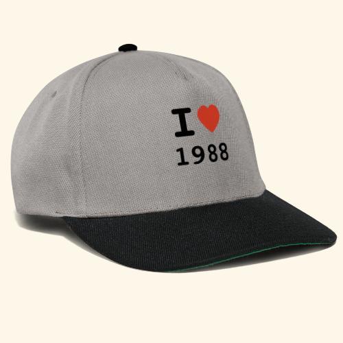 I Love 88 b 001 - Snapback Cap
