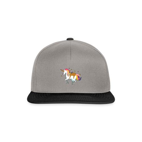 Funny Sloth Riding Unicorn - Snapback Cap