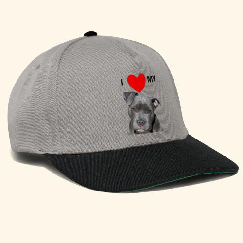 I love my Pitbull Hund Hunde Herrchen Frauchen - Snapback Cap