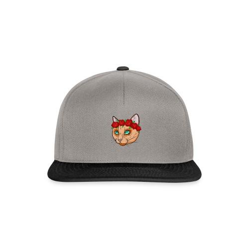 Katze Blumenkranz - Snapback Cap