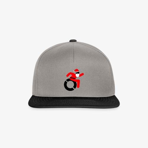 Kerstman in een rolstoel, speciaal voor de Kerst - Snapback cap