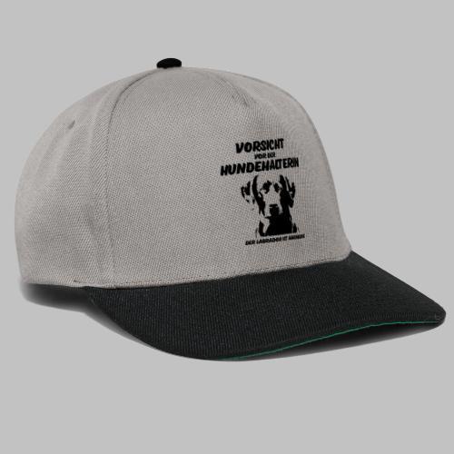 Vorsicht vor der Hundehalterin der Labrador Spruch - Snapback Cap