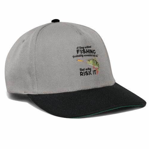 A Day without Fishing Angeln Fishyworm Bass Barsch - Snapback Cap
