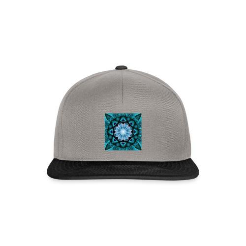 türkieses Fraktal - Snapback Cap