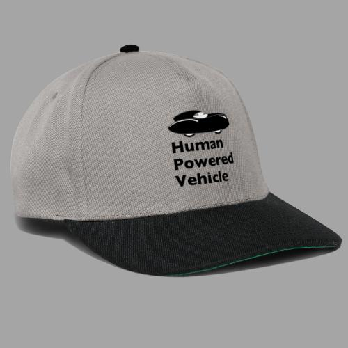 Quattrovelo Human Powered Vehicle black - Snapback Cap