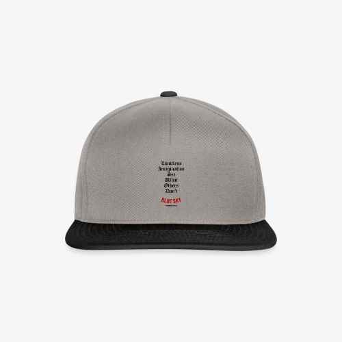 Limitless Imagination Zwart - Snapback cap
