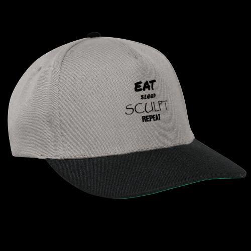eat sleep noir - Casquette snapback