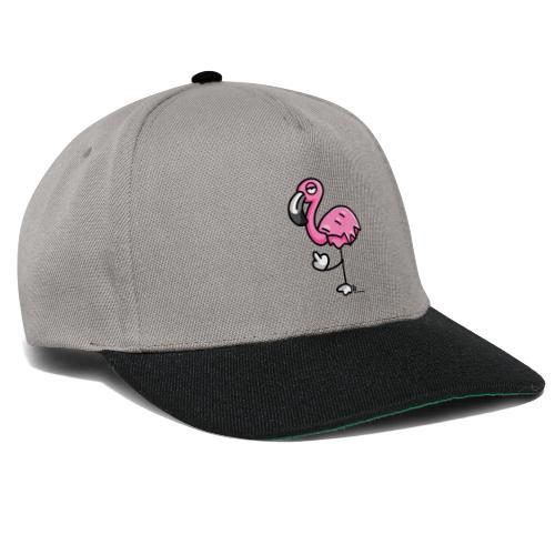 Flamingo zeigt Stinkefinger - Snapback Cap