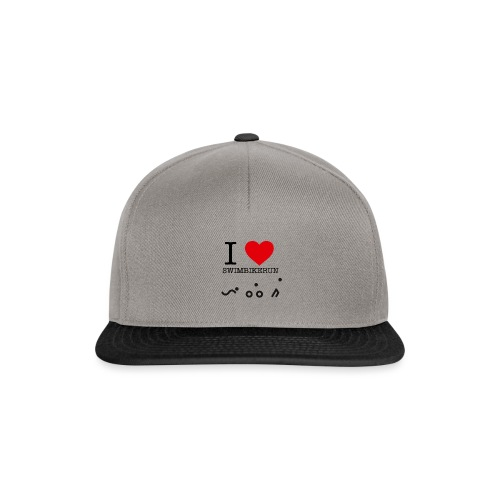 I love swim bike run - Snapback-caps