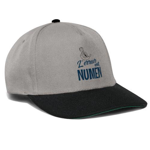 L erreur est Numen - Casquette snapback