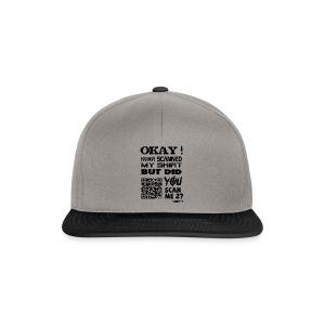 QR shirt for nosy people - Snapback cap
