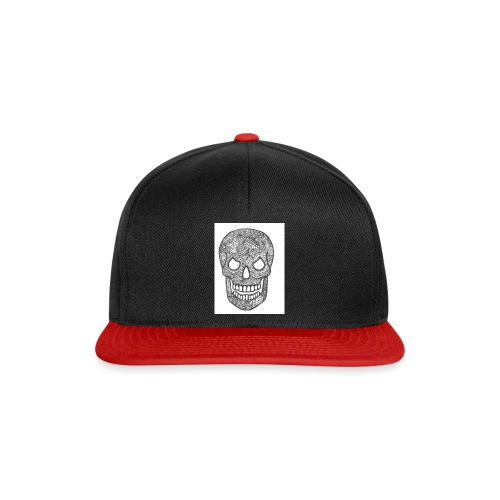 Zentangle Skull 1 - Snapback cap