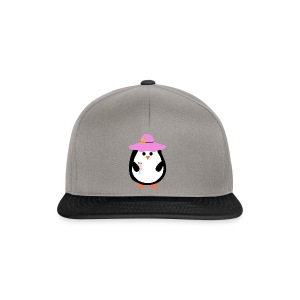 Pinguin mit Cocktail - Snapback Cap