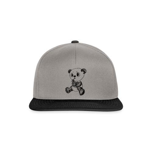 Panda Karhu musta scribblesirii - Snapback Cap