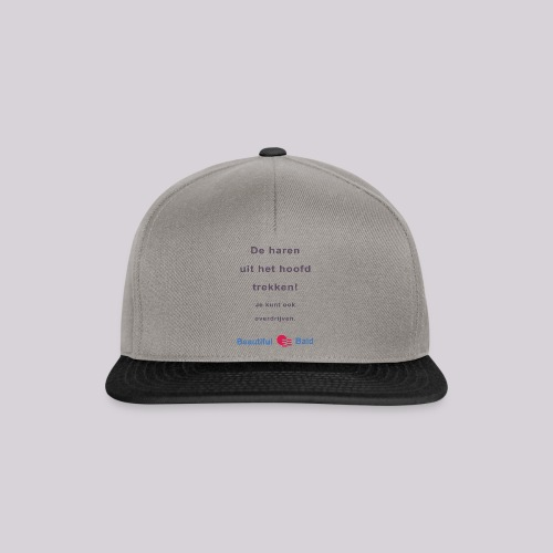 De haren uit je hoofd trekken b - Snapback cap