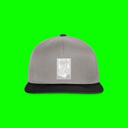 king of all goblins white on black - Snapback Cap