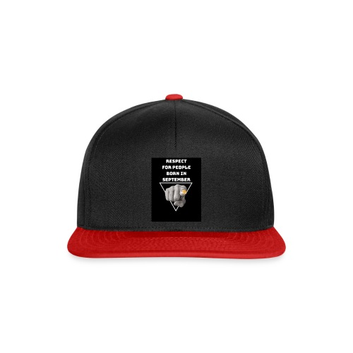 RESPECT FOR PEOPLE BORN IN SEPTEMBER - Casquette snapback